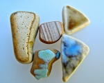 Sea pottery with the glazes still in tact