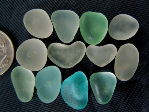 Sea Glass Jewels - HEARTS! $24 6/8