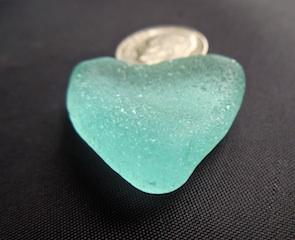 "1"" Pale Blue Heart $75 8/11"