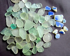 Sea Glass & Pottery, sale $26 10/25