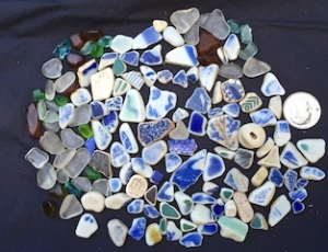 Sea pottery! Blue! $48 9/1