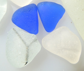 Cobalt HEARTS! Safety glass, 1 1/2